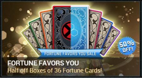 50% OfF Fortune Cards Sale!